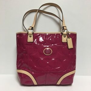 COACH Peyton Patent Leather Magenta Tote NWT